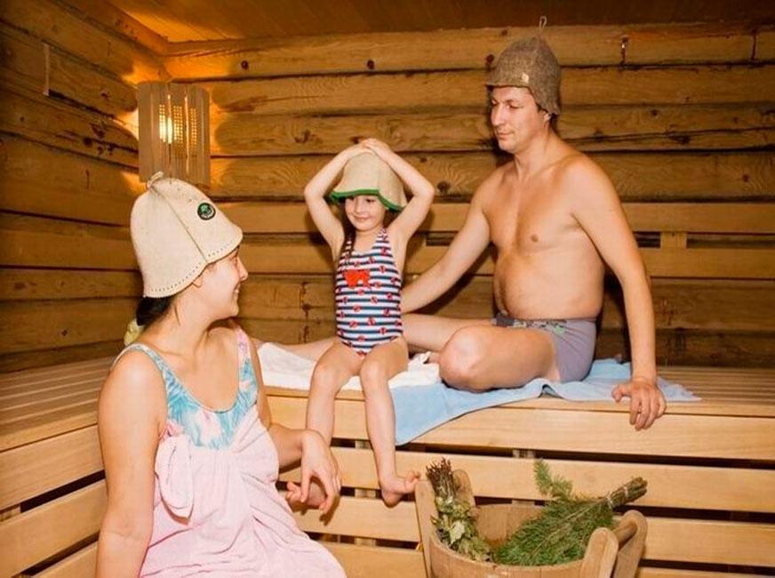 Посещение бани вместе с детьми